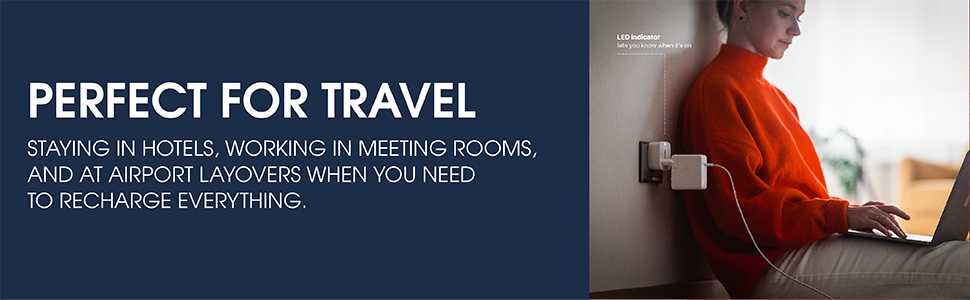 perfect for travel, staying in hotels, working in meeting