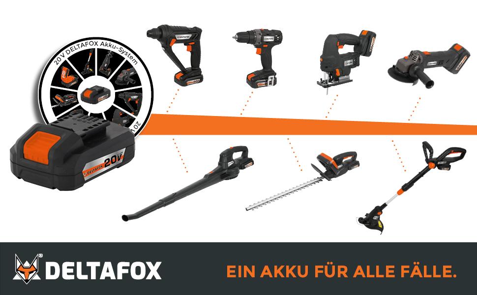DELTAFOX S/äbels/äge Akku 18V inkl Zubeh/ör 100mm Schnitttiefe max. 20V 2.0 Ah