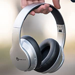 wireless headphones over ear bluetooth headphones foldable with siri voice assistant for phones tv