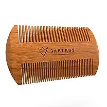 peigne barbe leger bois double espacement pour coiffer barbe