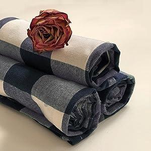 cotton buffalo plaid dish towels