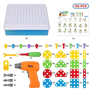 193pcs drill puzzle toy set