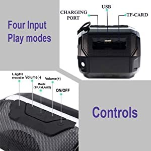 controls and modes of speaker