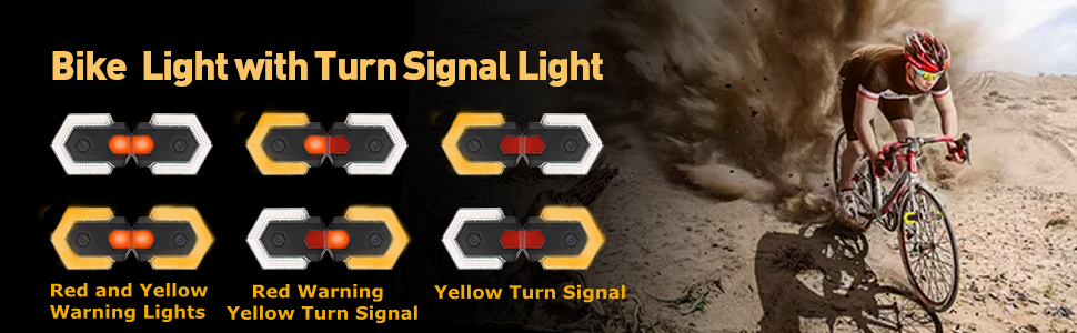 bike turn signals bike tail light back bicycle rear safety light scooter led rechargeable scooter