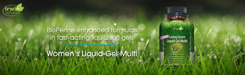women's lviing green women health female liquid softgel soft gel multi multivitamin vitamin