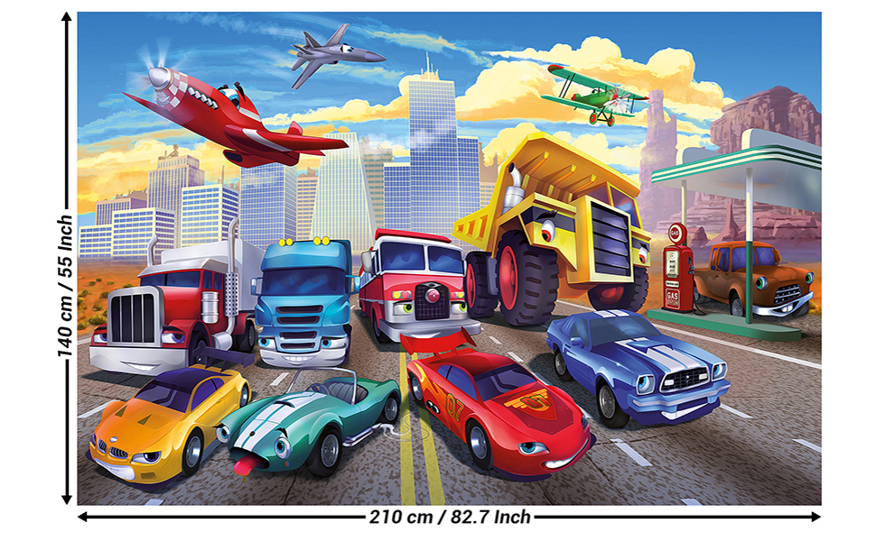KIDS ROOM WALL MURAL WALLPAPER Disney Cars World boy/'s bedroom photo decor