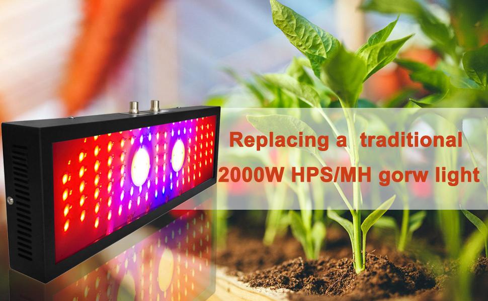 full spectrum led grow light, indoor plant light, succulent plants grow light, growing lights