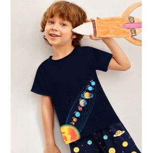 boys pajamas summer pjs short sleeve 100% cotton jammies