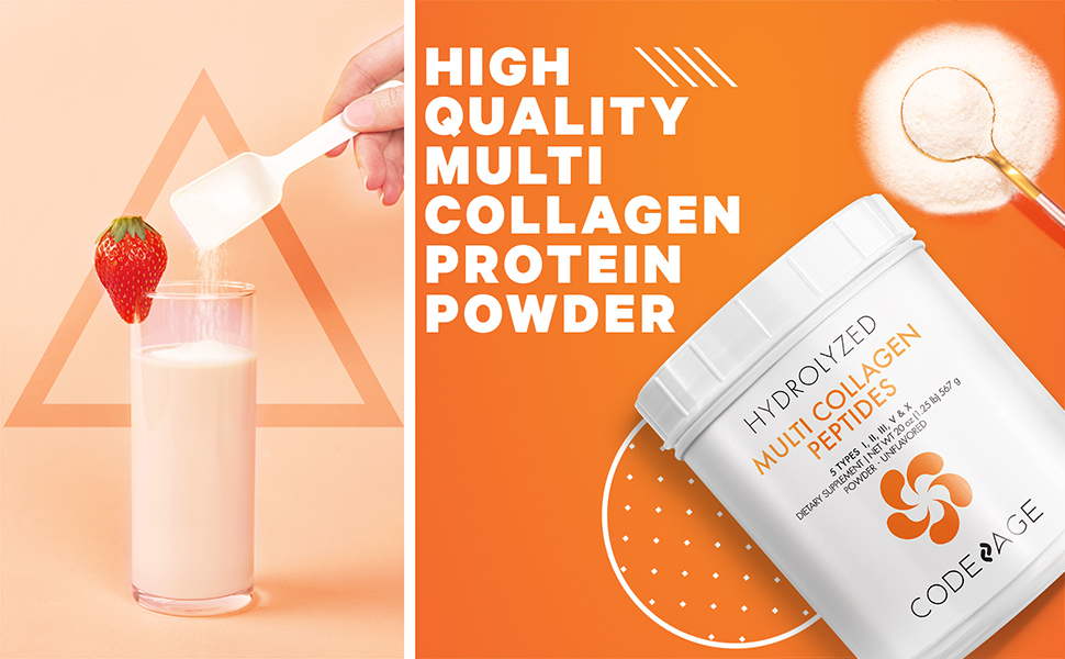 Codeage Multi Collagen Protein Powder Beauty Age Glow