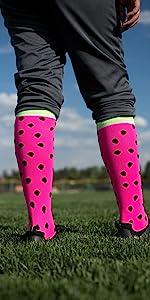 Watermelon Softball Socks