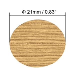 VictorsHome Self-Adhesive Screw Hole Stickers PVC Cover Caps Dustproof for Wooden Furniture Cabinet 21mm 2 Sheets//108 Pcs Black