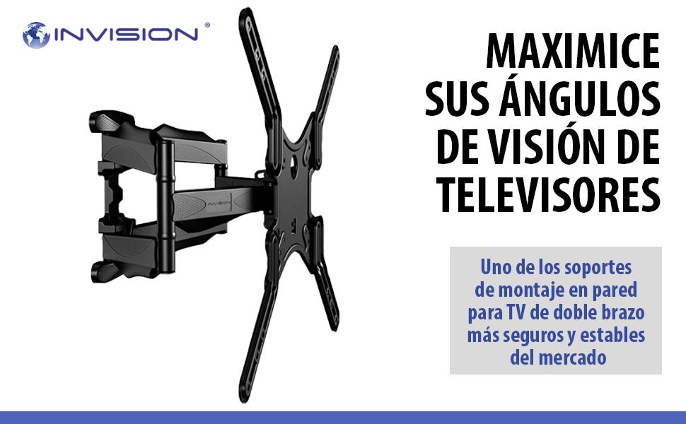 Invision Soporte de Pared para TV para 24-55 Pulgadas Pantallas ...