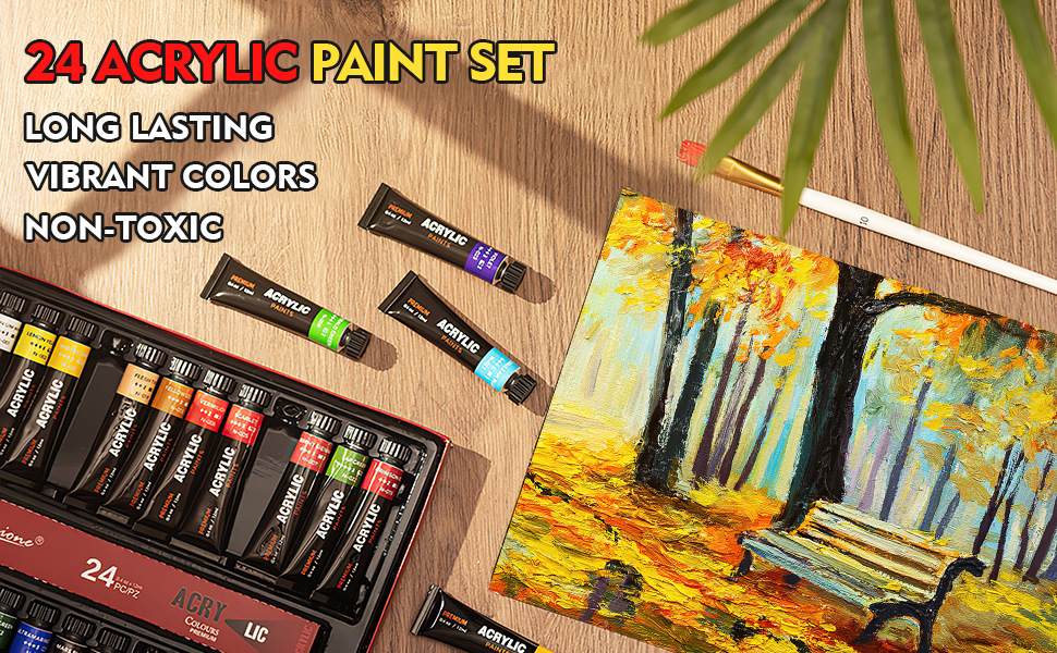 24 ACRYLIC PAINT SET