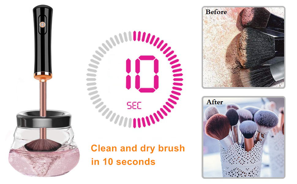 electric makeup brush cleaner and dryer