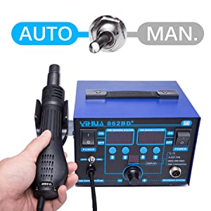 automatic hot air station manual hot air station