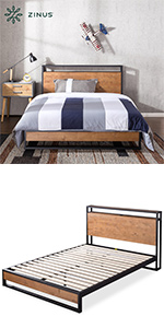 Suzanne Ironline with Headboard Shelf and USB