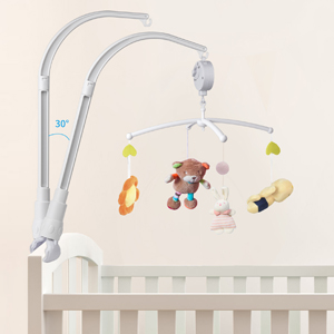 34 Inch Baby Crib Mobile, Mobile Arm for Crib, Infant Music Box Holder Arm Bracket