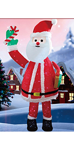 6FT Lighted Pop Up Christmas Santa Claus
