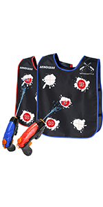 Water activated vest water fight water guns super soaker water toys summer toys backyard water toys