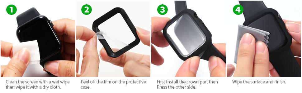 apple watch series 6 se 44mm screen protector