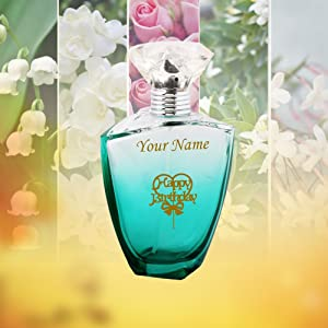 Happy Birthday Customised Perfume With Name Printed And A Greeting Card For Your Loved Ones