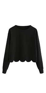 scallop sweatshirt