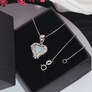 angle wind opal necklace for womens