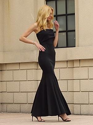 Off The Shoulder One Sleeve Slit Maxi Prom Dress