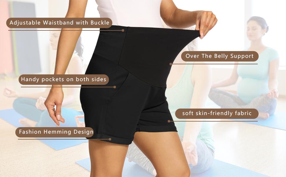comfy maternity shorts yoga shorts