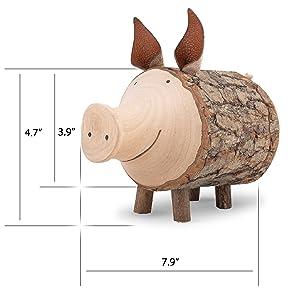 Adult piggy bank Cute piggy bank Wood piggy bank Baby shower gift Money bank Money box