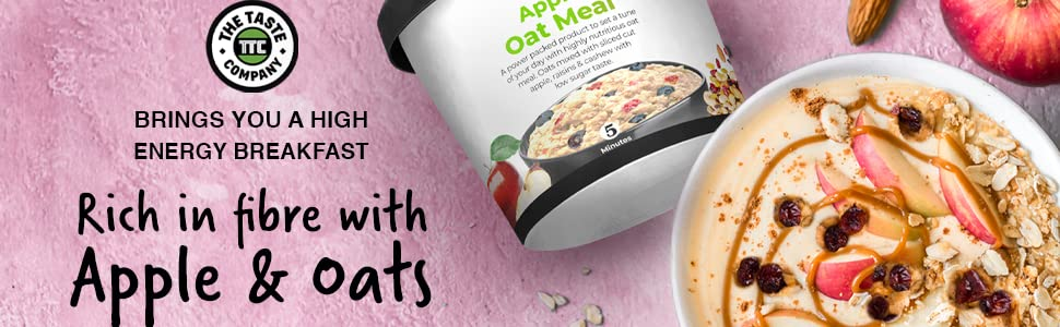 Apple oat meal ttc the taste company healthy breakfast