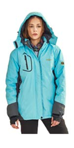 Wantdo Men's Interchange 3 in 1 Ski Jacket Waterproof Coat Detachable Liner