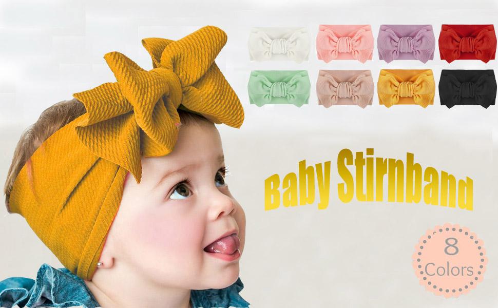 Baby Mädchen Haarband Kinder Schleife Stirnband Nylon Haarschmuck Headwraps Deko