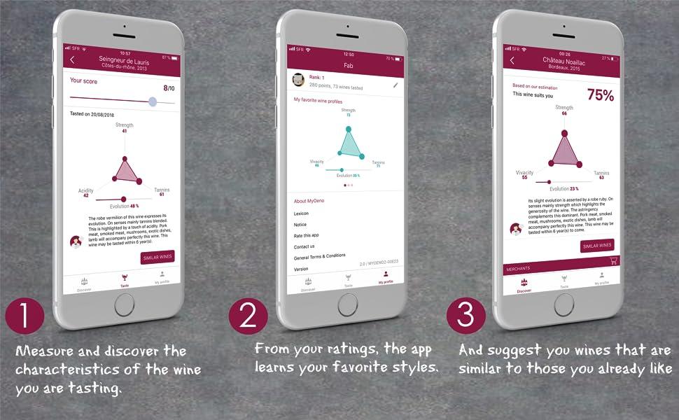 wine app functions