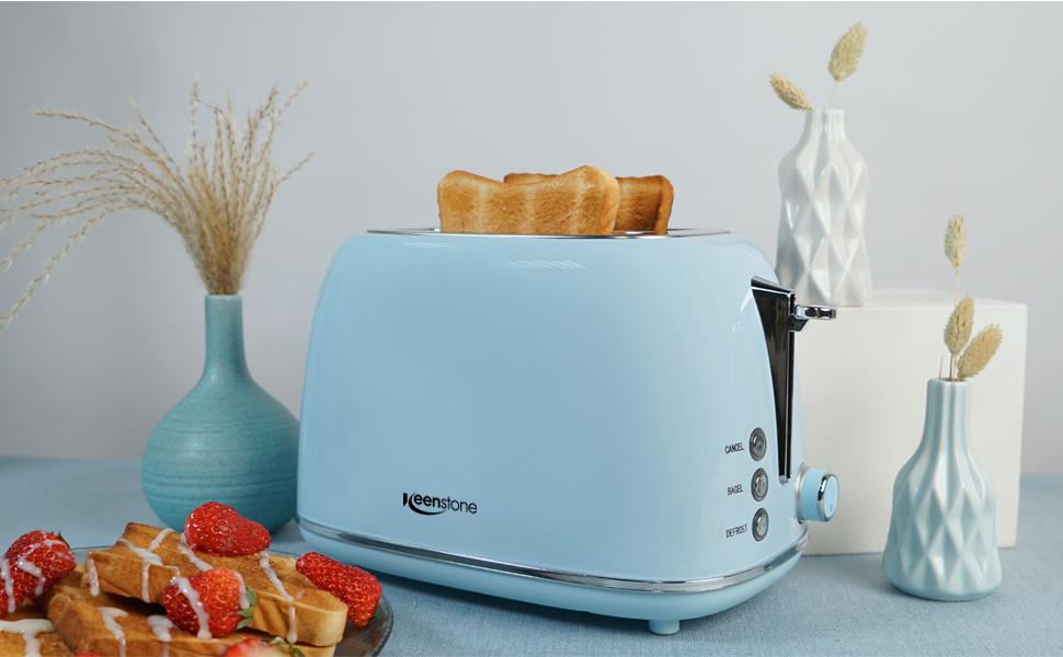 blue toaster