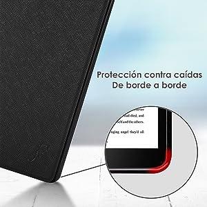 Funda Carcasa Flip Vertical con Funci/ón de Despertador//Reposo Autom/ático para Kobo Leisosa Nia Comfort Light 6p Modelo 2020 Gris TTVie Funda para Kobo Nia