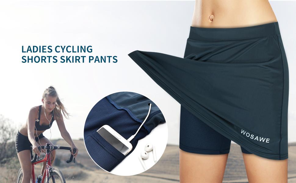 LADIES CYCLING SHORTS SKIRT PANTS