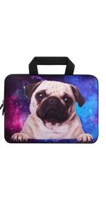 Galaxy Pug Laptop Sleeve Bag