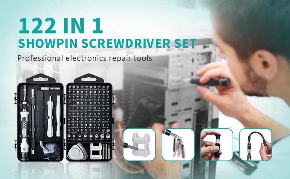 122IN1 Professional Screwdriver set with S2 steel T6H T8H T10H