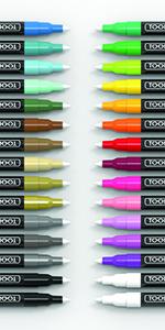30 Extra Fine Acrylic Paint Pens