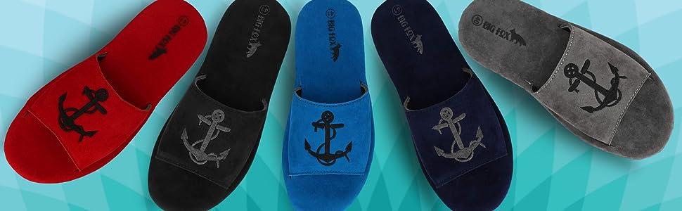 mens flipflop slipper men sandal anchor slip on slipon