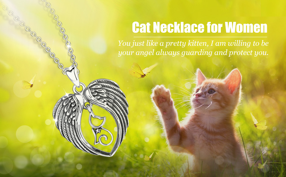 Amazon Com Cat Necklace For Women And Girls Celestia 925 Sterling Silver Cute Kitten Pendant Gifts For Cat Lover 18inch Chain Jewelry