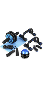 TOMSHOO 5-in-1 Fitness Workout Set - AB Wheel Roller Addominali +2 Maniglie per Flessioni + Corda per Saltare + Pinza… 239db370 16a6 4e37 8288 93f7c9b05187. CR0,0,150,300 PT0 SX150 V1