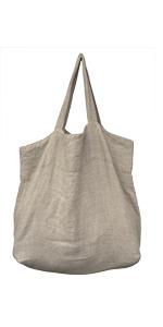 Leinentasche groß natural beige hochwertig nachhaltig Einkaufstasche Stella Luzia Marie Shopping Bag