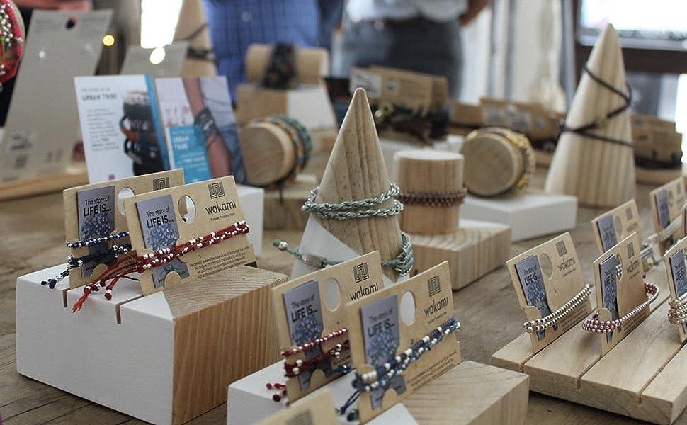 handcrafted string bracelets