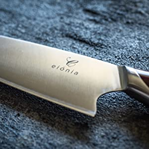 eionia 8 inch chef knife sharp precise corrosion resistant german stainless steel