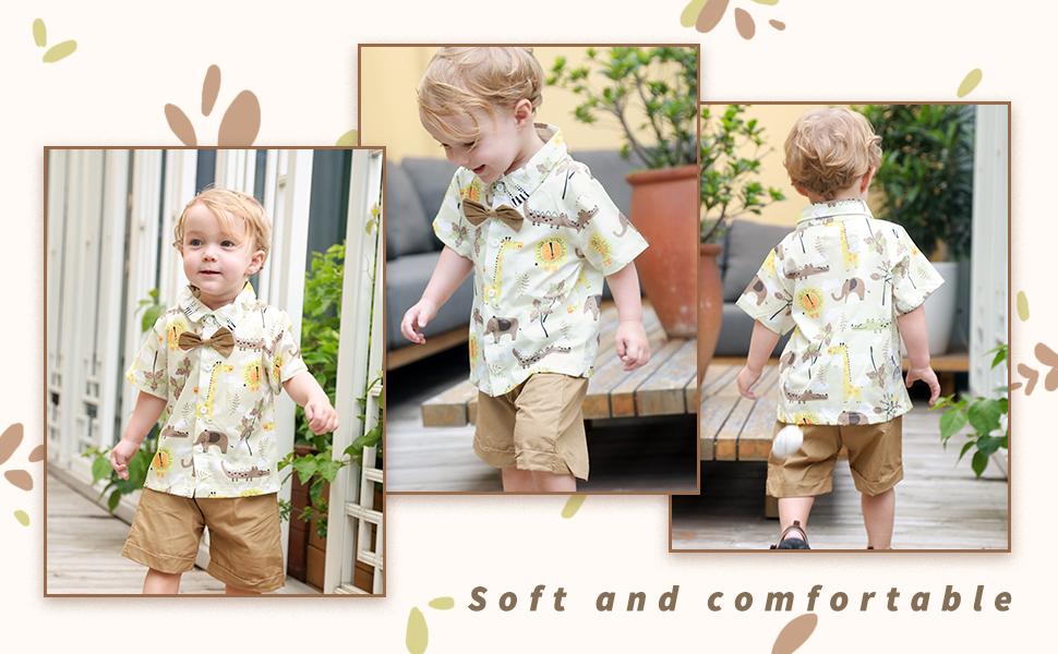 Toddler Kid Baby Boy Clothes Outfits Sets Beach Animal Shirt Tops Shorts Pants