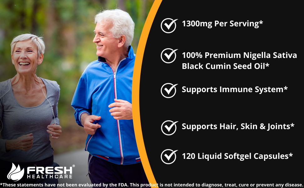 black seed oil capsules organic vitamin e immune support health elderberry nigella sativa 1200mg