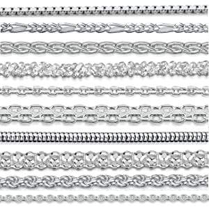 """Amberta 925 Sterling Silver 1.2 mm Ball Bead Chain Necklace 14"""" 16"""" 18"""" 20"""" 22"""" 24"""" 28"""" 32"""" 36"""" in"""