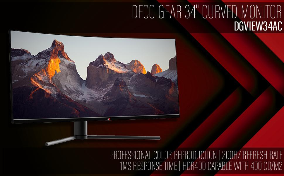 deco gear gaming monitor 34 inch
